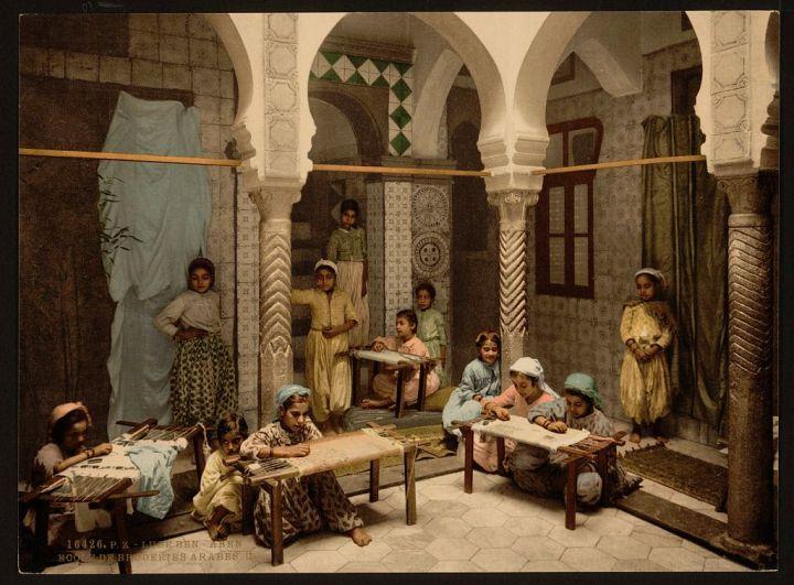 école de broderie arabe Luce Ben Aben Alger