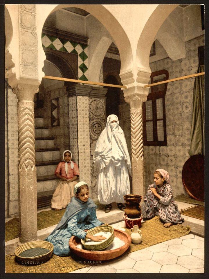 Femmes maures préparant le couscous Luce Ben Aben