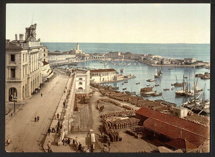 le port et l'amirauté Alger