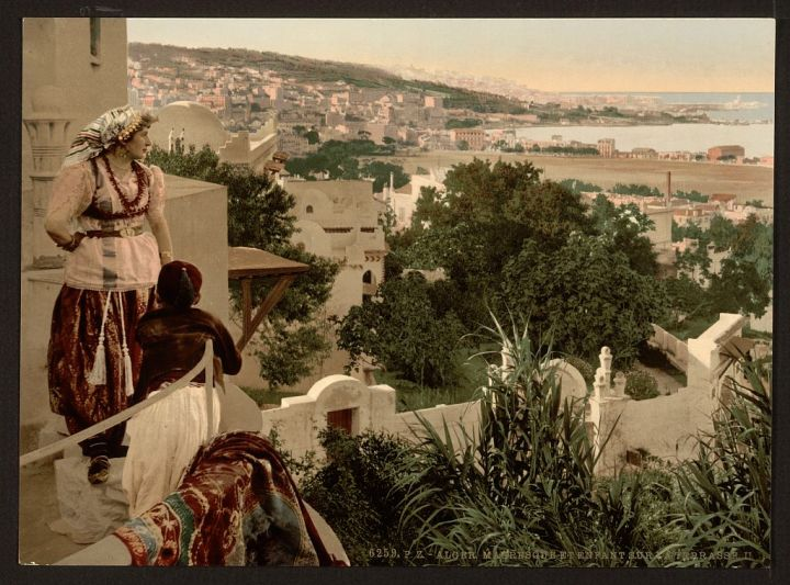 Mauresque et enfant sur terrasse II Alger